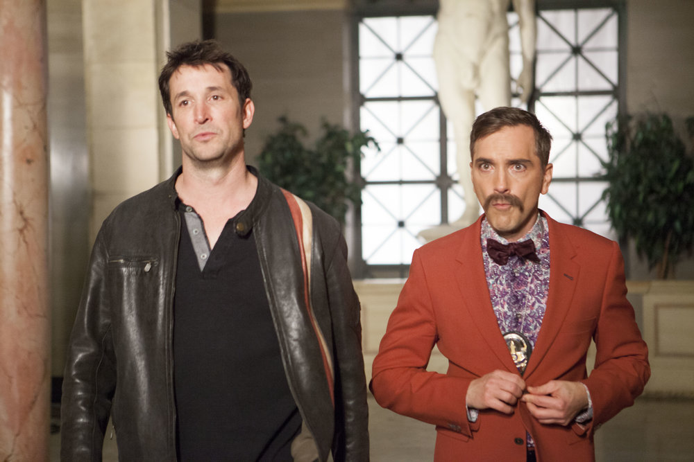 "1/16/16 Cops & Bottoms Opening Credits. L to R: Noah Wyle (""Noah""/""Bratkowski""), Scott Lowell"