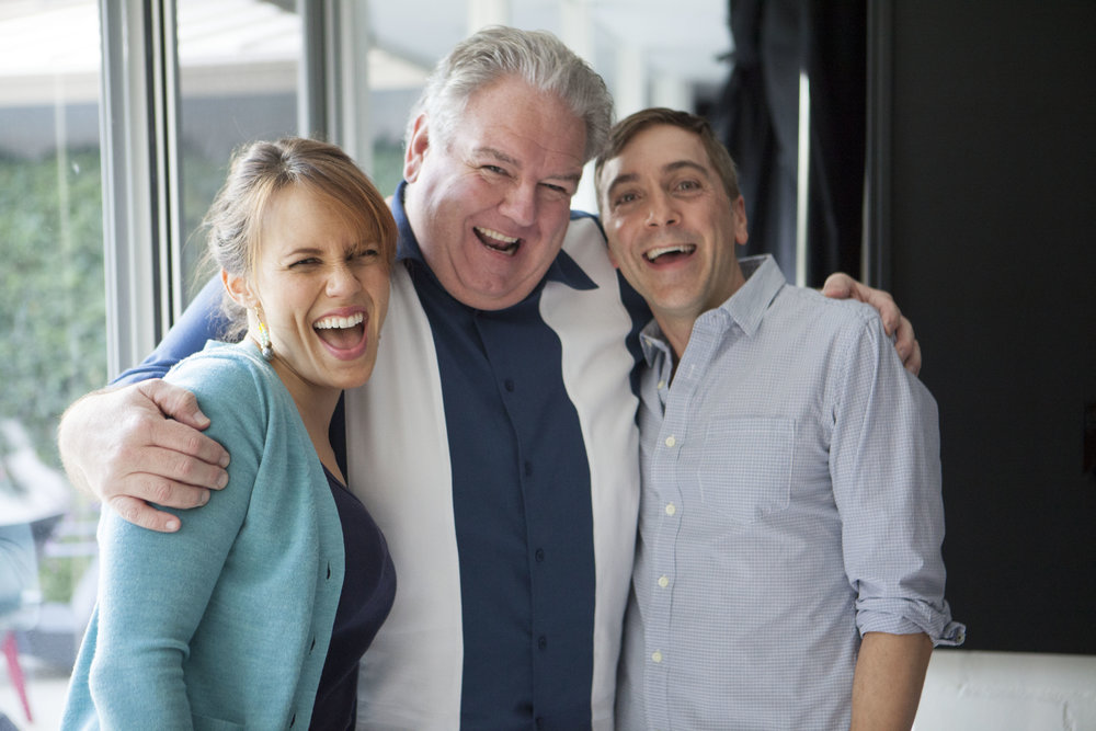 "1/17/16 Bob Raskins Therapy Office Scenes L to R: Emily Swallow (""Lisa""), Jim O'Heir (""Bob""), Scott Lowell"
