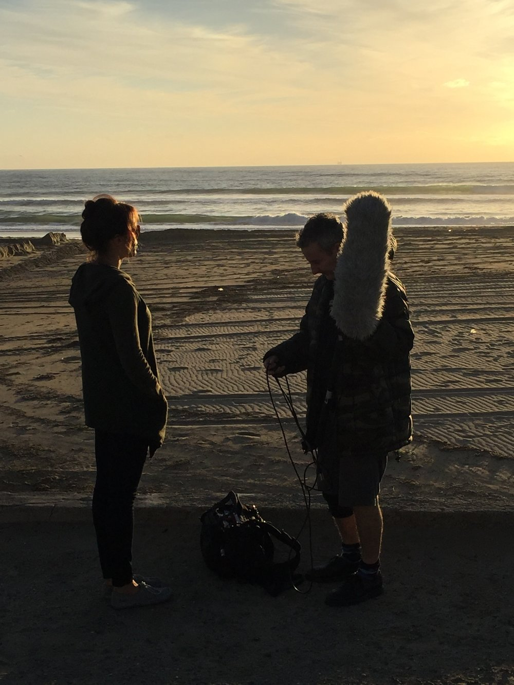 "12/13/15 Sunset Beach Scene Scene. L to R: Emily Swallow (""Lisa""), Eddie Jemison (""Chaim"")"