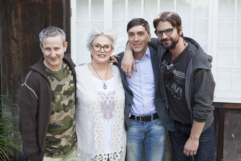 "11/09/15 ""Mary Elizabeths'"" House. L to R: Eddie Jemison, Sharon Gless, Scott Lowell, Gale Harold"
