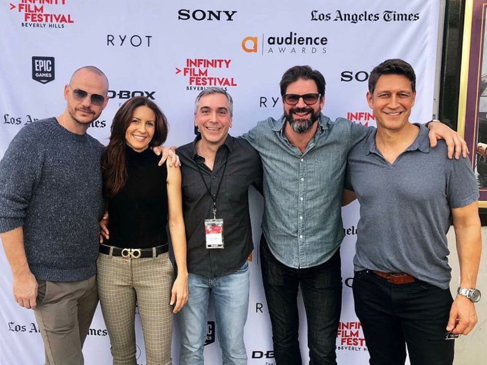 ADOPTABLE! screening at IFF 11/4/18 (l - r) Peter Paige, Michelle Clunie, Scott, Gale Harold, Robert Gant