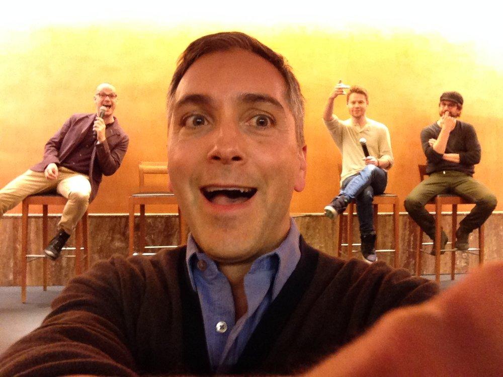 Bilbao, Spain QAF Fan Convention 4/14 (l - r) Peter Paige, Scott, Randy Harrison, Gale Harold