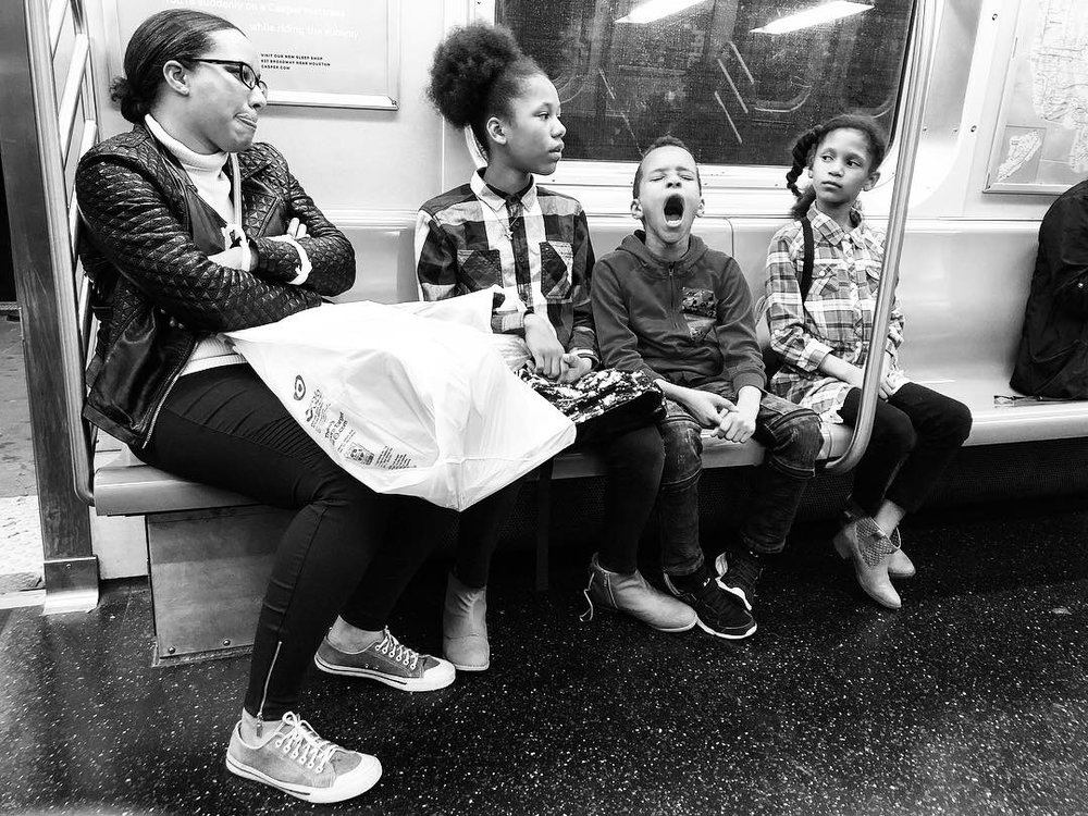 Fell in love with this family as we all waited and waited for the Q train to get us home in the wee hours last night. Couldn't pick a favorite out of all these. #2 (Oct. 7, 2018)