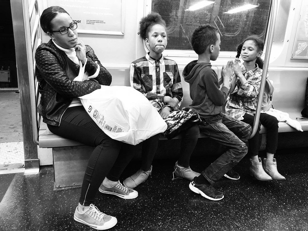 Fell in love with this family as we all waited and waited for the Q train to get us home in the wee hours last night. Couldn't pick a favorite out of all these. #3 (Oct. 7, 2018)