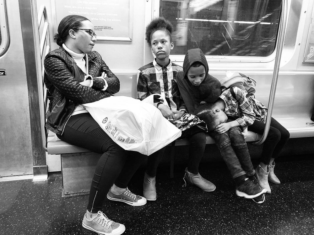 Fell in love with this family as we all waited and waited for the Q train to get us home in the wee hours last night. Couldn't pick a favorite out of all these. #9 (Oct. 7, 2018)