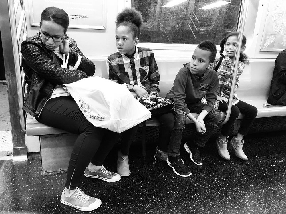 Fell in love with this family as we all waited and waited for the Q train to get us home in the wee hours last night. Couldn't pick a favorite out of all these. #10 (Oct. 7, 2018)