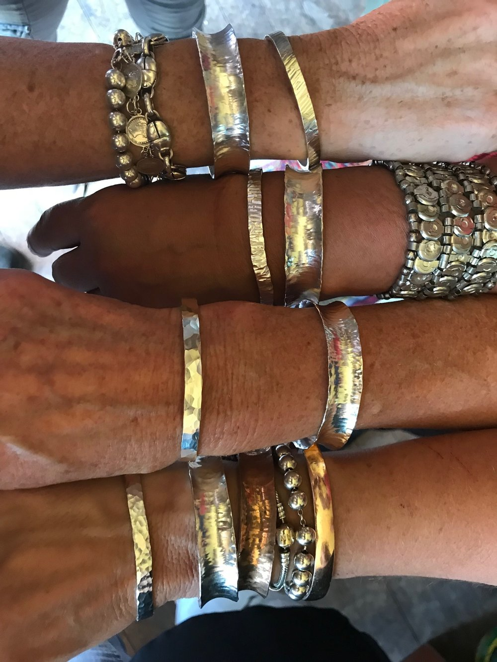 Hammered Bangles - Make yourself your own set of Sterling Silver Bangles for yourself or for a gift.