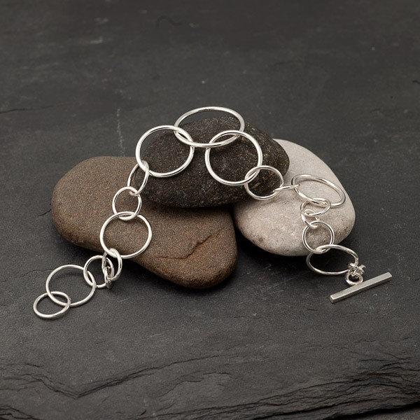 Hammered Chain Bracelet -