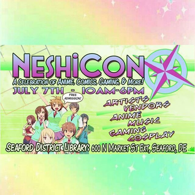 Catch us next weekend at @neshicon with new merch! Make sure you come say 'Hi!' to us!! #anime #convention #animeconvention #cosplay #art #neshicon2018