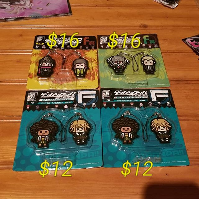 #danganronpa straps for sale! Please take a look, pm me if interested!
