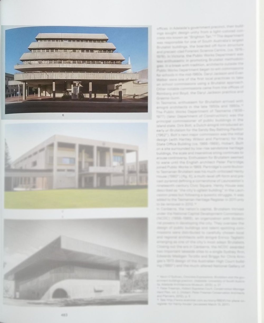 """""""SOS Brutalism: A Global Survey"""" publication. Commissioned photograph of Henty House Government Offices, Launceston, Tasmania"""