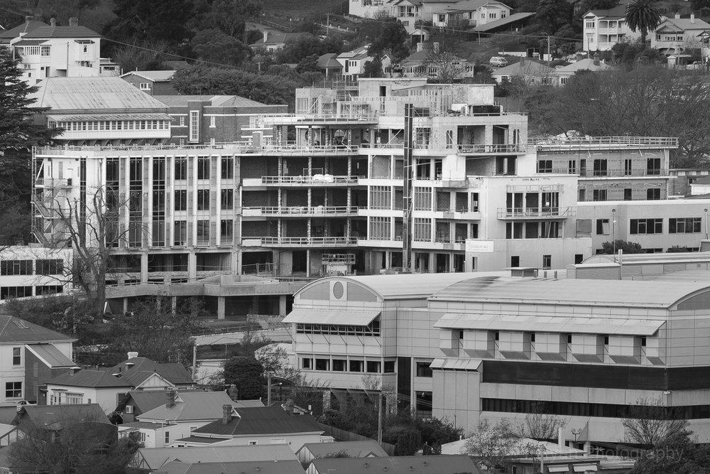 From the same vantage point as the above photograph, but captured in 2009 as the Launceston General hospital undergoes redevelopment into flats and hotel. Note the staircase has been removed since taking this photograph.