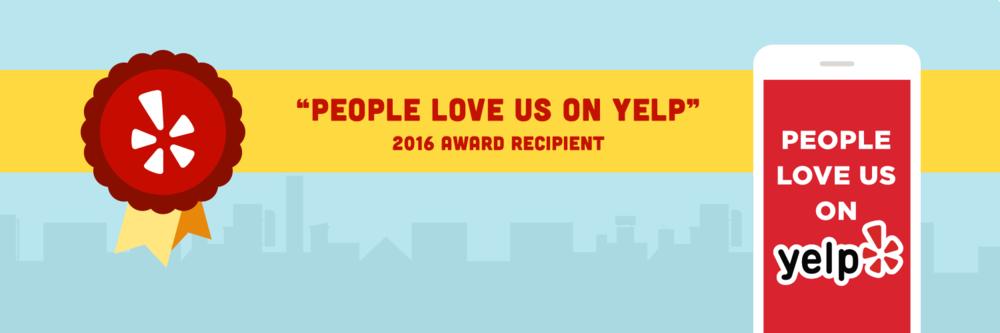 Yelp Award 2016