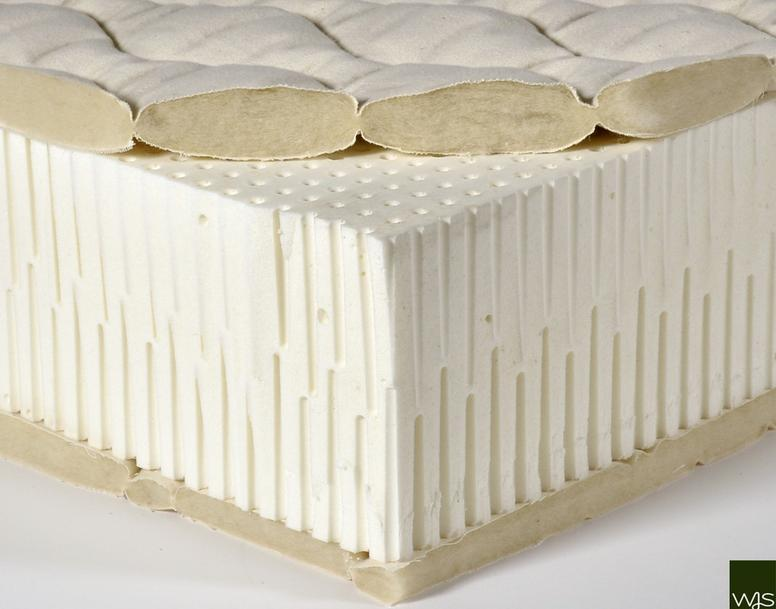 W.J. Southard Latex Mattress Cutaway