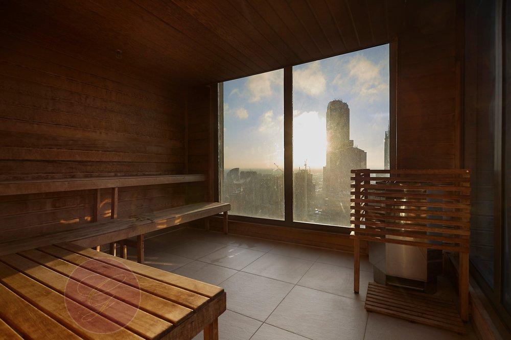 40th floor sauna