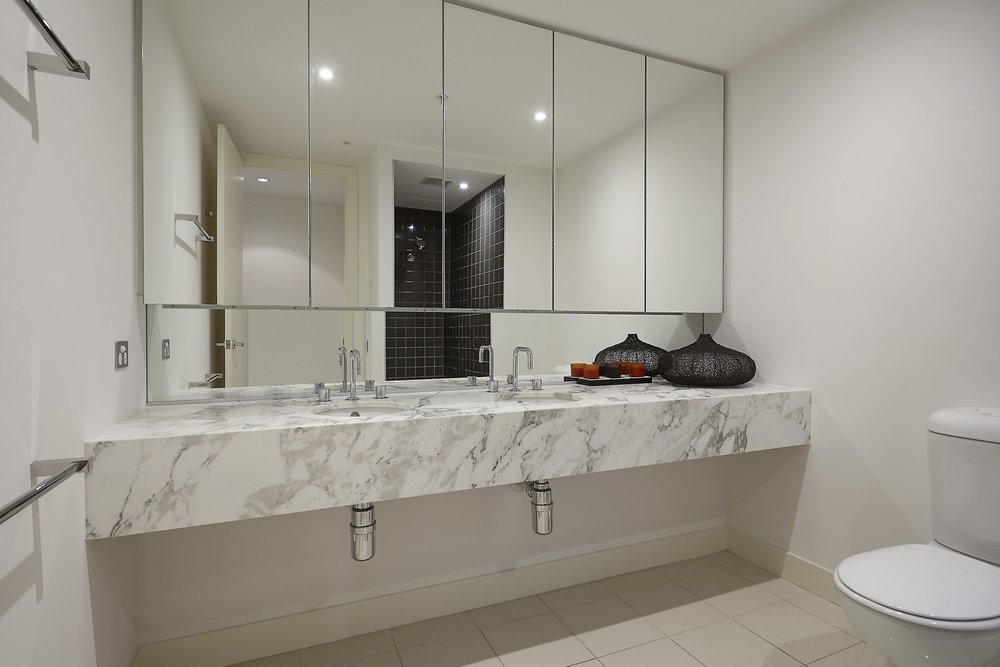 second bathroom - you can see the walk in shower in the mirror