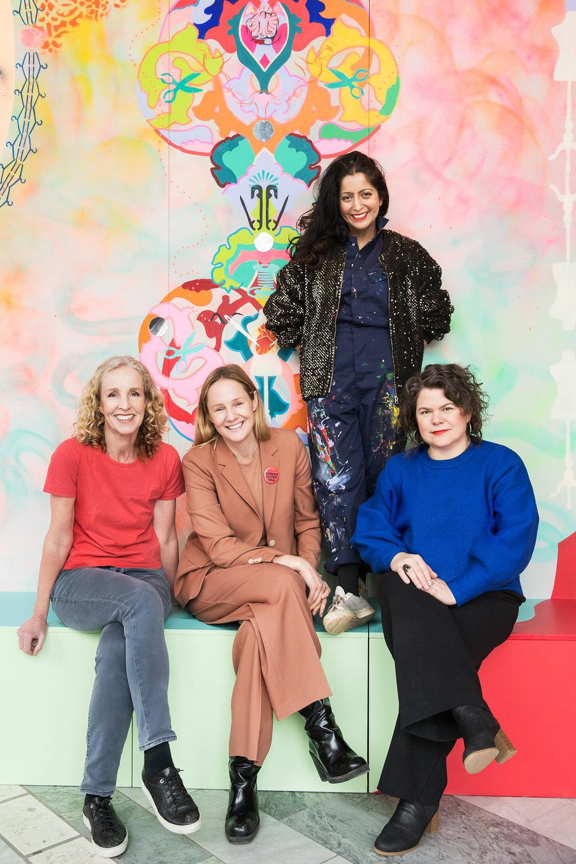 Kristina Hultman, Lina Thomsgård, Saadia Hussain och Maria Patomella. Foto: Matilda Rahm
