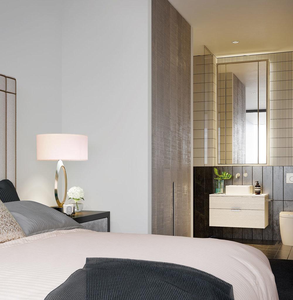 WestVillage_Apartments_Bed&Bathroom.jpg