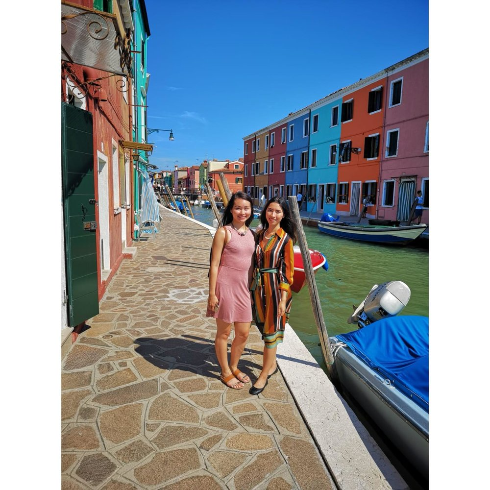 Us in Burano, Italy