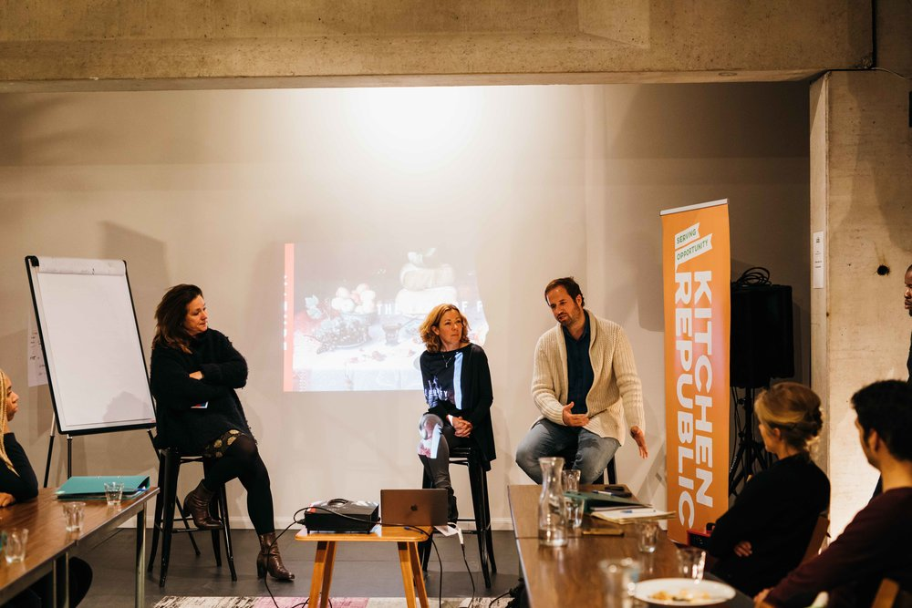 Dutch Cuisine's Monique Mulder, Abbot Kinney's founder Gijs van de Maasakkers, and Marqt's Emma Coles kicked off the Academy's first week with their stories of why they got into the food business.