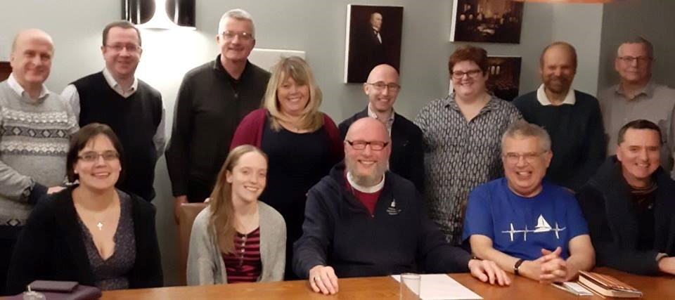 Bishop Paul Bayes and members of the Manchester Chapter at their residential meeting