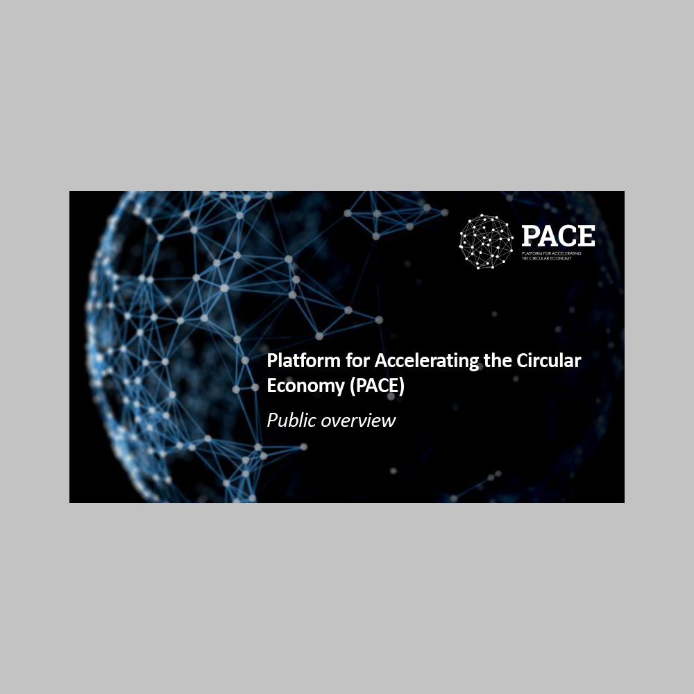 PACE Overview - A global public-private collaboration platform and project accelerator