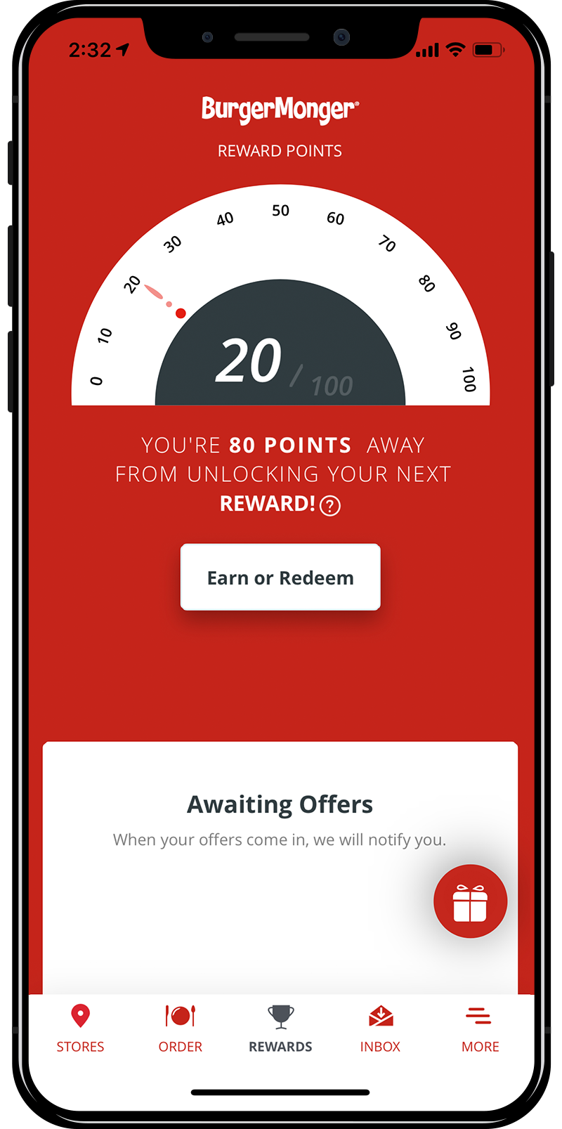 Burger Monger Rewards App