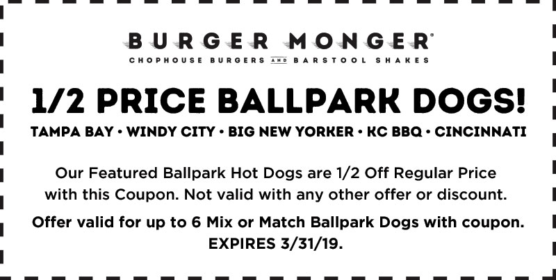 half priced hot dogs coupon