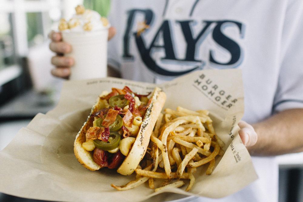 Burger Monger Ballpark Dog Tampa