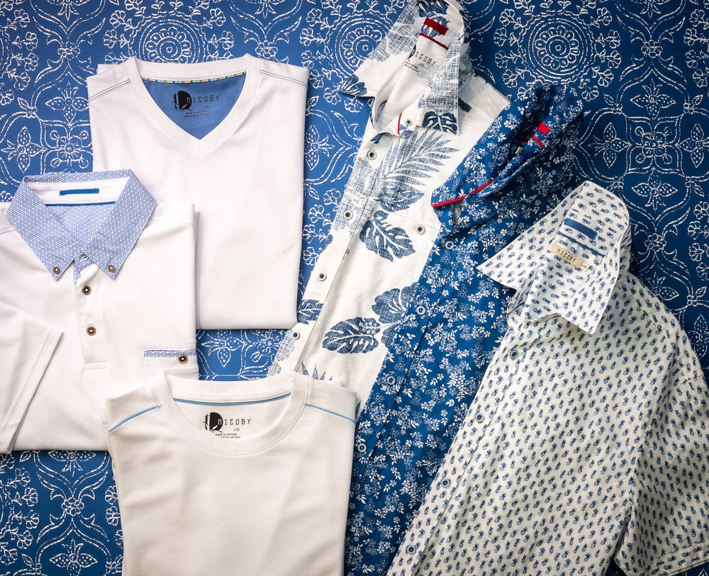 KNITS & WOVENS IN BLUES & WHITES