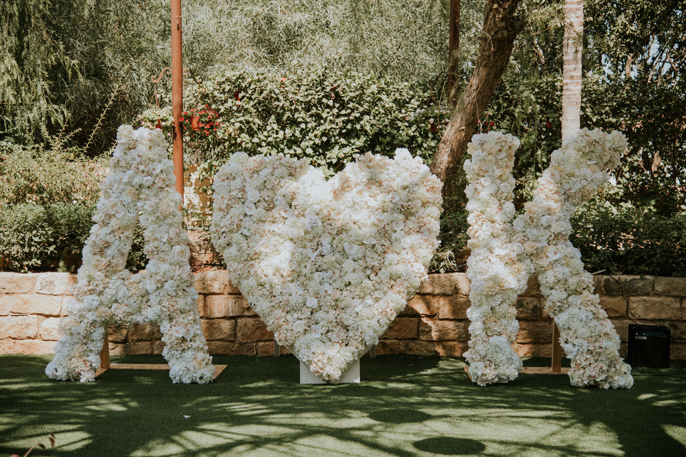 Floral initials by Paper Flowers.