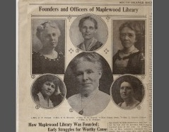 Founders and Officers of Maplewood Library South Orange Record Apr 2