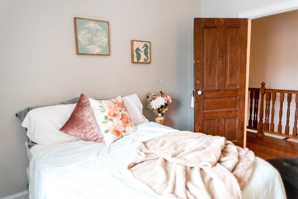 Guest Bedroom: with original doors.