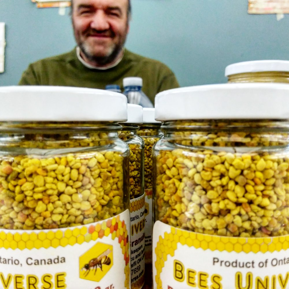 Bees Universe   supplies honey, pollen, propolis tincture, beeswax candles, royal jelly and eggs.