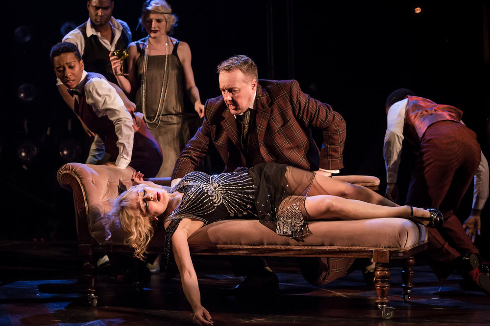 Frances Ruffelle as Queenie and John Owen-Jones as Burrs in The Wild Party. Photo Credit Scott Rylander (2).jpg