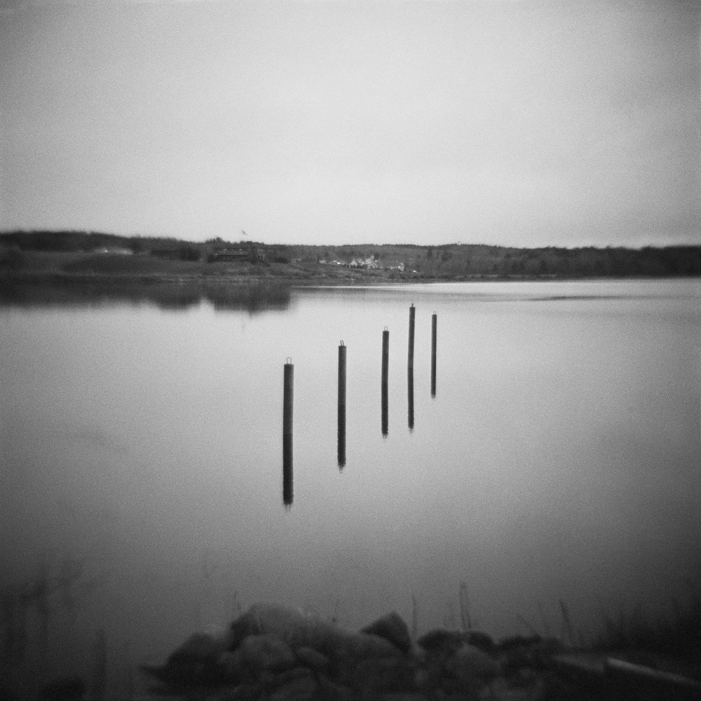 Untitled (posts in water), 2015