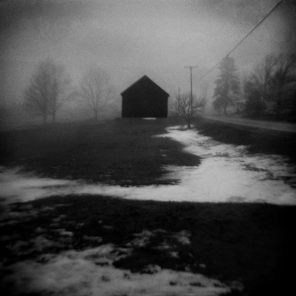 Untitled (barn, snow), 2012