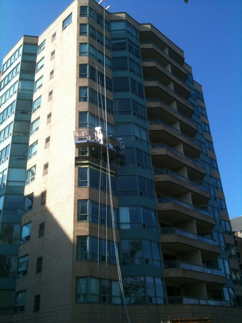 - Installation of new through-wall flashingsNew window and control joint sealants