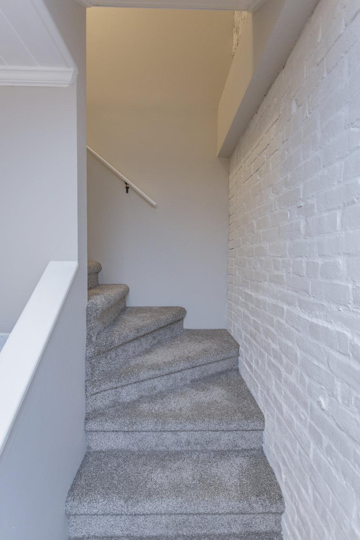 Leading upstairs
