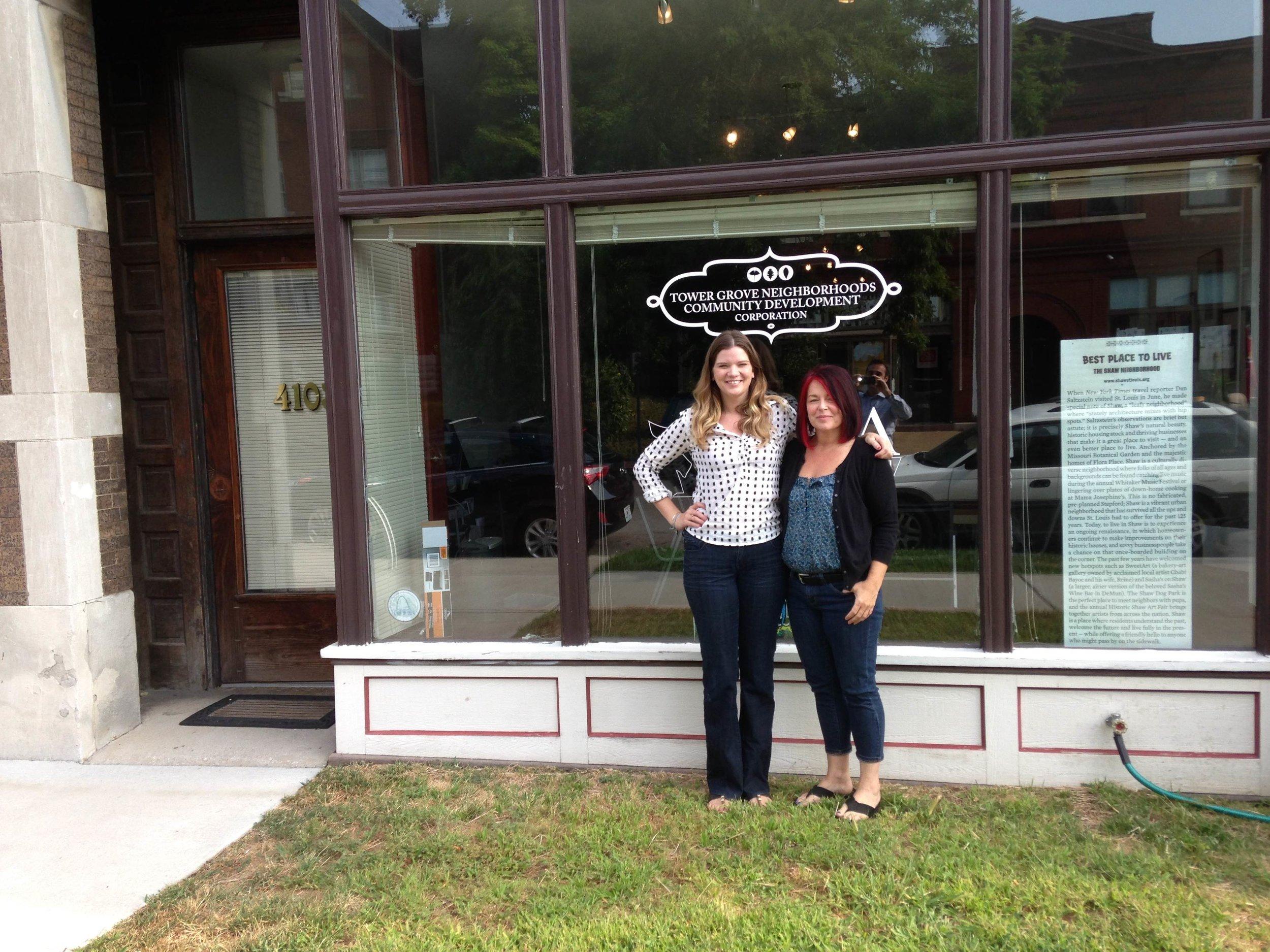 Kristan and Ella at 4103 Shenandoah