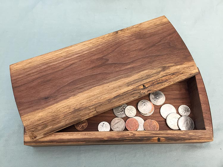 Bandsawn box2, walnut.