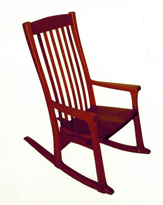 Rocking chair, mahogany.