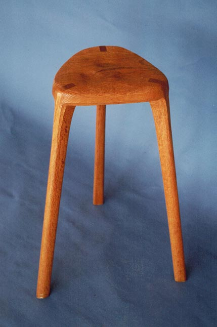 Shop stool, oak.