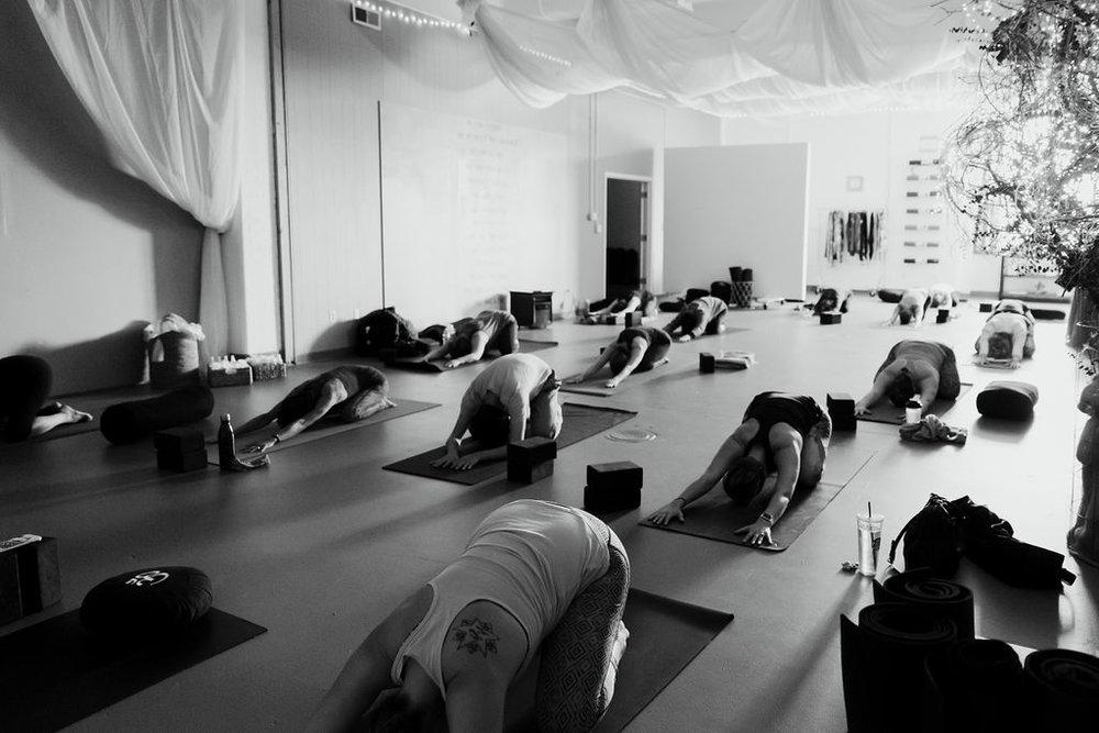 The yoga studio -