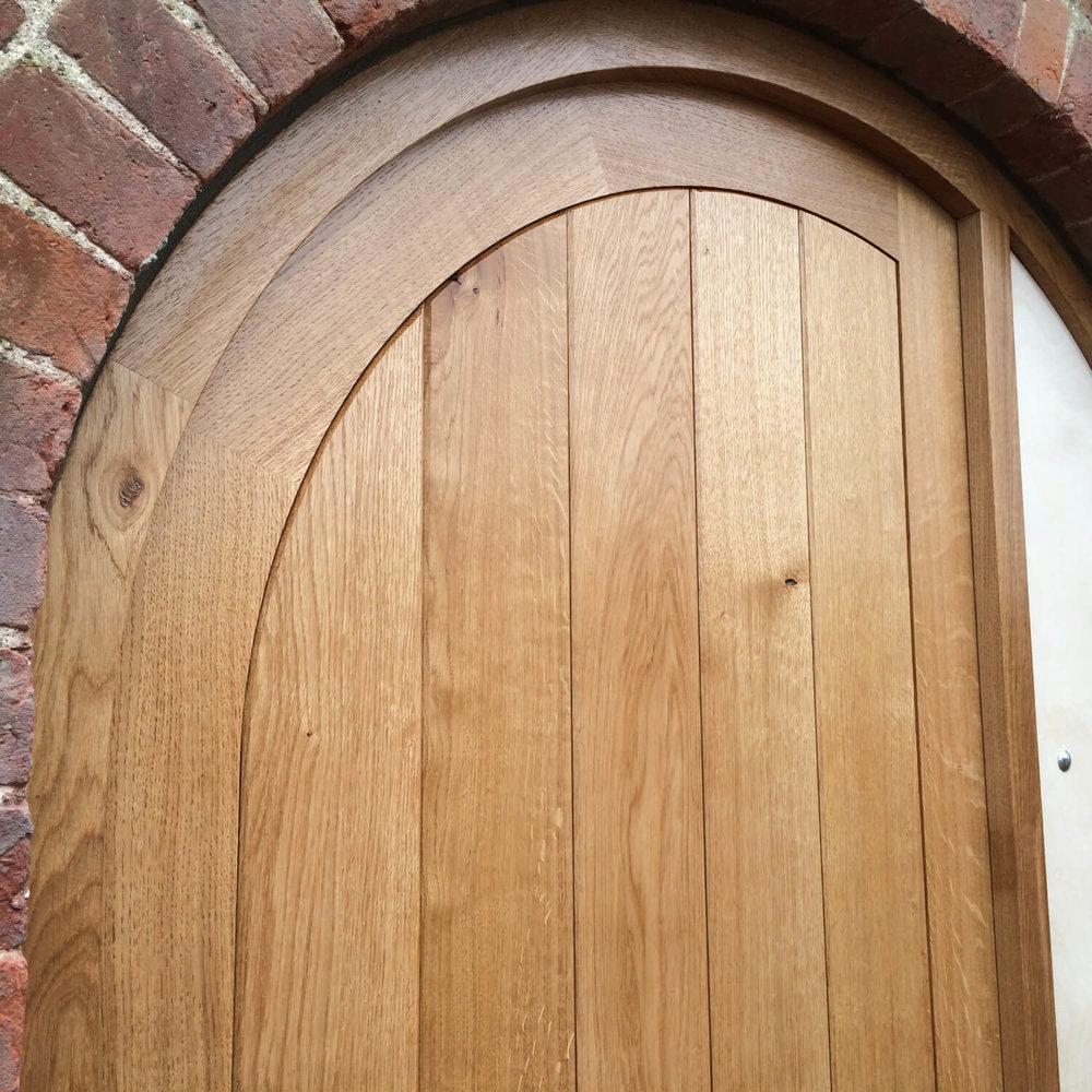 Oak radius door and frame.