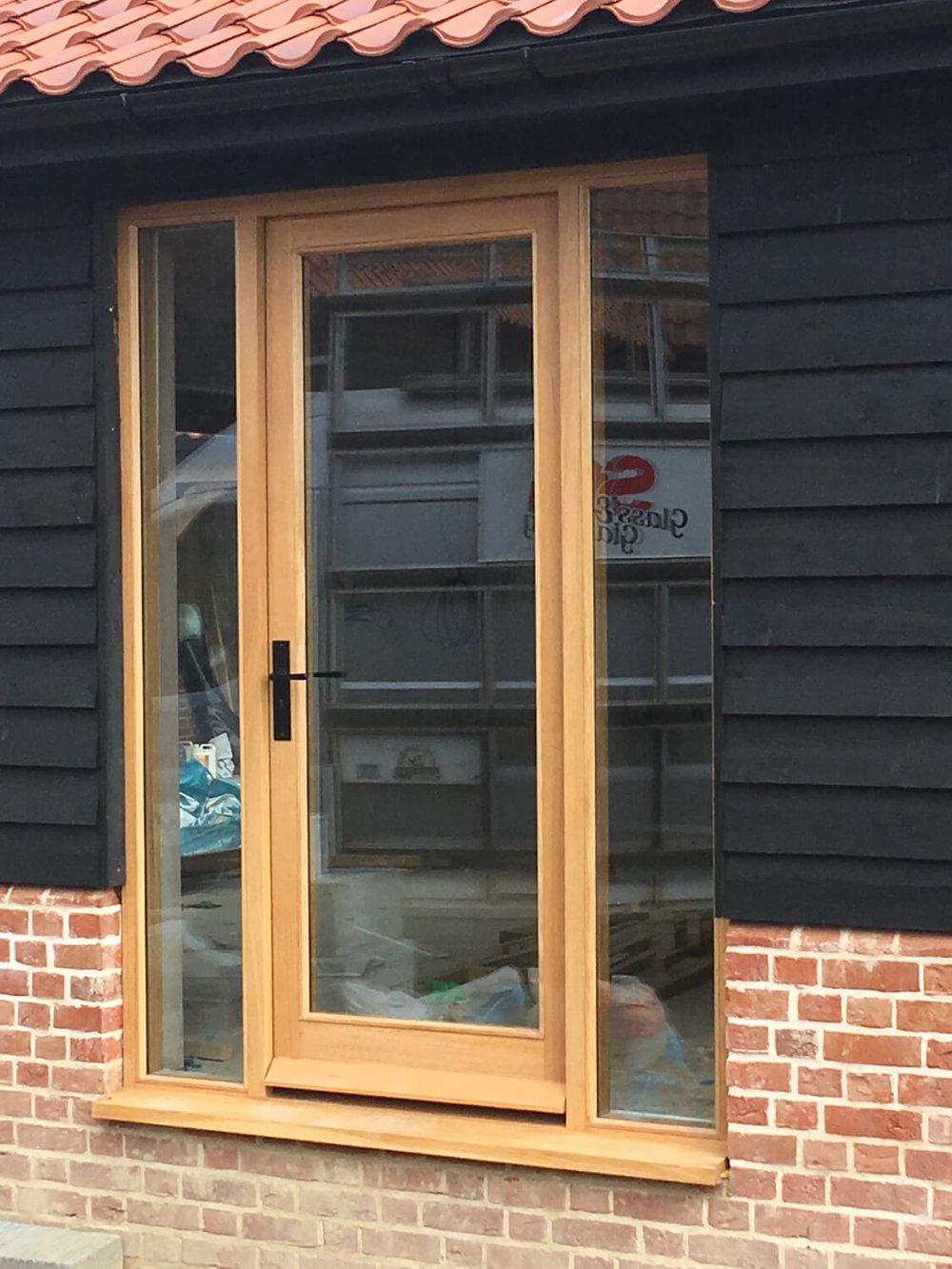 Fully glazed Oak door and frame