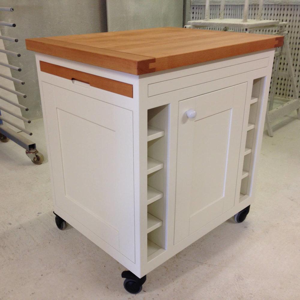 Small Kitchen butchers block trolley