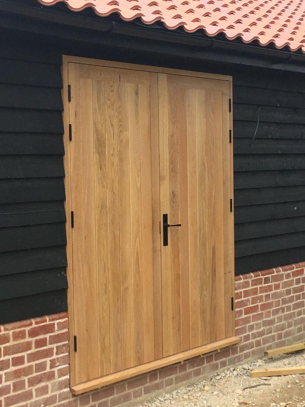 Oak fully boarded doors