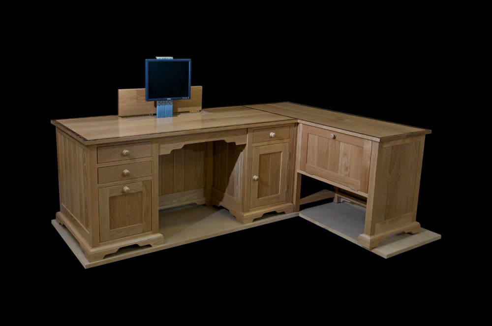 Oak commissioned desk