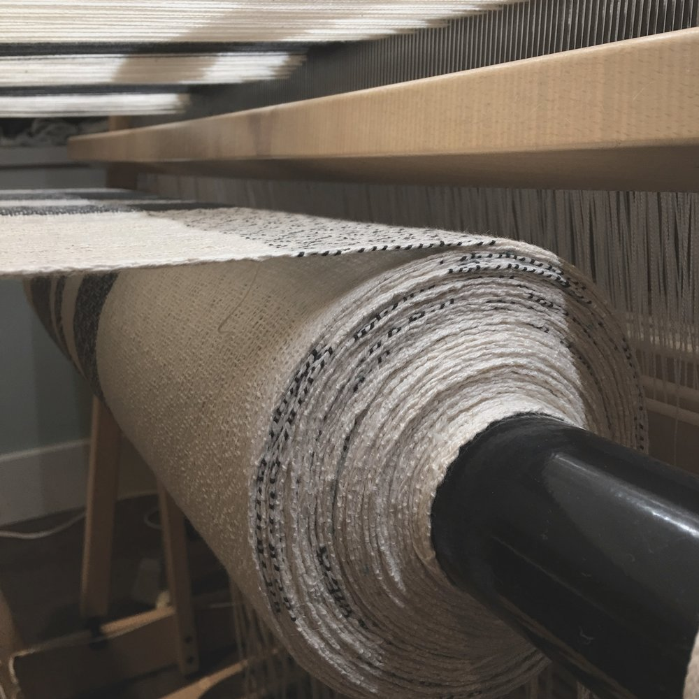Woven Cloth….. - Unwinding the woven cloth off the beam is gratifying and inspiring in a world full of fast fashion and manufacturing.